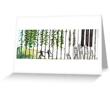 Run To The Trees Greeting Card