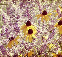 Black Eyed Susans & Lilacs by ElleEmDee