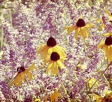 Black Eyed Susans & Lilacs by Leah Gunther
