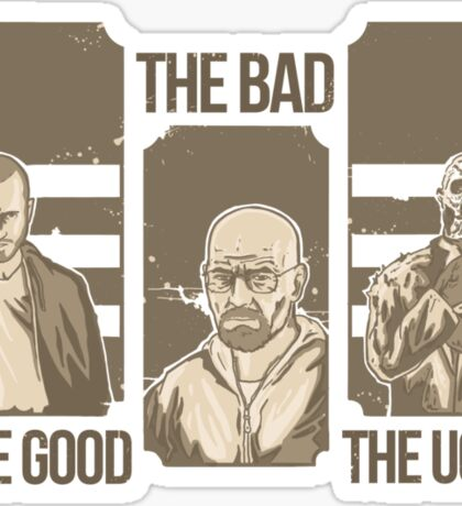 the good the bad & the ugly! (Jesse version) Sticker