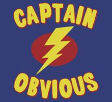 Captain Obvious T Shirt by flippinsg