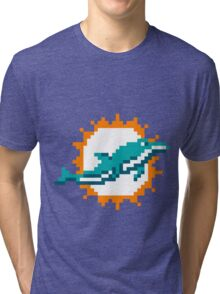 8Bit Miami Dolphins 3nigma Tri-blend T-Shirt