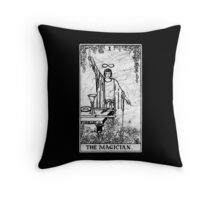 The Magician Tarot Card - Major Arcana - fortune telling - occult Throw Pillow