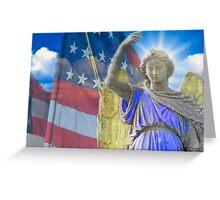 An American Angel Greeting Card