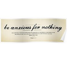 Philippians 4:6-7 Poster