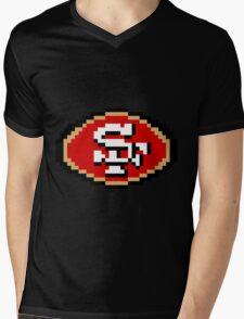 8Bit San Francisco 3nigma Mens V-Neck T-Shirt