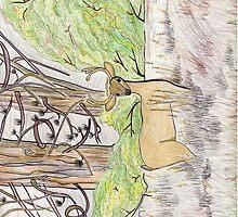 Buck In The Wood by merrilymccarthy