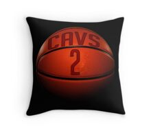 cavs 2 basketball Throw Pillow