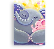 Hug - Rondy the Elphant and his Mom Canvas Print