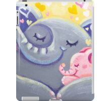 Hug - Rondy the Elphant and his Mom iPad Case/Skin