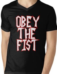 Invader Zim commands you to. . .OBEY THE FIST! Mens V-Neck T-Shirt