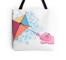 Kite Flying - Rondy the Elephant in the sky Tote Bag