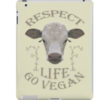 RESPECT LIFE - GO VEGAN iPad Case/Skin