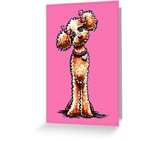 Girly Apricot Poodle Pretty in Pink Greeting Card