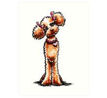 Girly Apricot Poodle Art Print