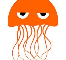 Orange Jellyfish by kwg2200