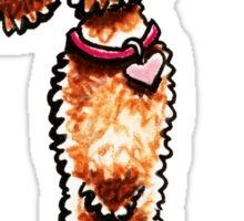 Girly Apricot Poodle Sticker