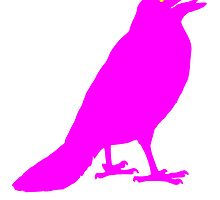 Pink Crow by kwg2200
