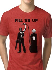 Bruce cambell fill er up Tri-blend T-Shirt