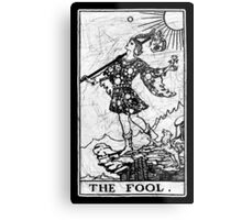 The Fool Tarot Card - Major Arcana - fortune telling - occult Metal Print