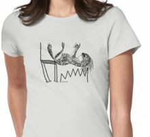 The Hazard Inky Black Drawing T-Shirt Womens Fitted T-Shirt