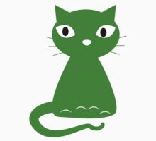 Cartoon Green Cat T-Shirt