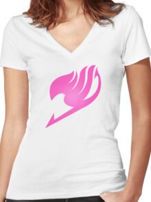 Fairy Tail HOT PINK Women's Fitted V-Neck T-Shirt