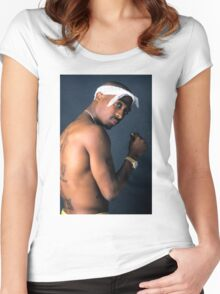 2PAC Women's Fitted Scoop T-Shirt