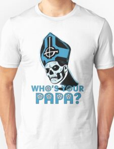 WHO'S YOUR PAPA? - light blue T-Shirt