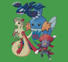 milotic, mudkip, kyogre, weavile, pokemon mix!  by linwatchorn