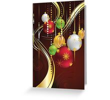 Decorative Christmas Ornaments 3 Greeting Card