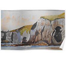 White Cliffs of Portrush, Northern Ireland Poster