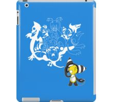 Music Demon Light Blue iPad Case (White Outline) iPad Case/Skin