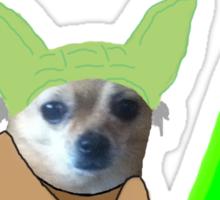 Chihuahua Yoda Sticker