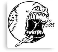 baseball Art Design Monster Canvas Print
