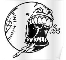 baseball Art Design Monster Poster