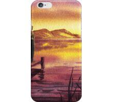 Girl Watching Sunset At The Lake iPhone Case/Skin