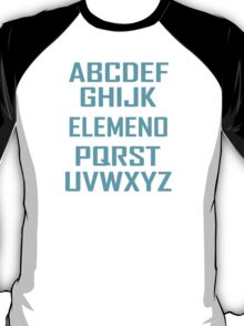 ABC ELEMENO Funny Geek Nerd Book School Teacher Read Spelling T-Shirt