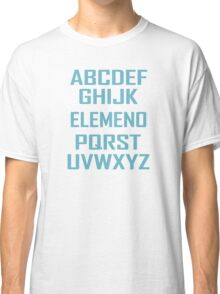 ABC ELEMENO Funny Geek Nerd Book School Teacher Read Spelling Classic T-Shirt