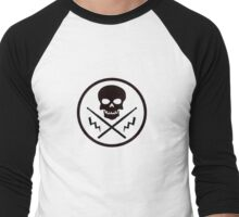 Drum or Die (Black) Men's Baseball ¾ T-Shirt
