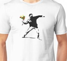 Banksy Flower Bomb Graffiti Street Art Mens Unisex T-Shirt