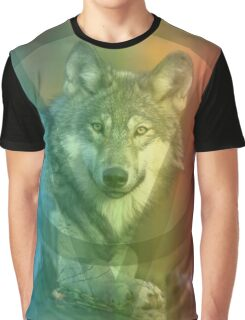 Rainbow Wolf Graphic T-Shirt