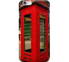 Old Red Phone Box iPhone Case/Skin