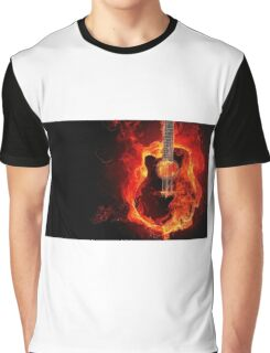 Guitar on fire Graphic T-Shirt