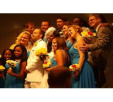 Exuberant wedding party Photographic Print