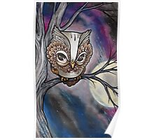 shy night owl painting. Poster
