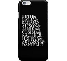 &Clones (v1) - white text iPhone Case/Skin