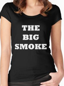 THE BIG SMOKE BELFAST White Women's Fitted Scoop T-Shirt