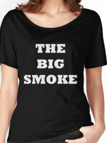 THE BIG SMOKE BELFAST White Women's Relaxed Fit T-Shirt