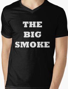 THE BIG SMOKE BELFAST White Mens V-Neck T-Shirt